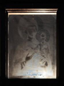 Смоленская икона Божией Матери, именуемая Смоленская, отображение на стекле