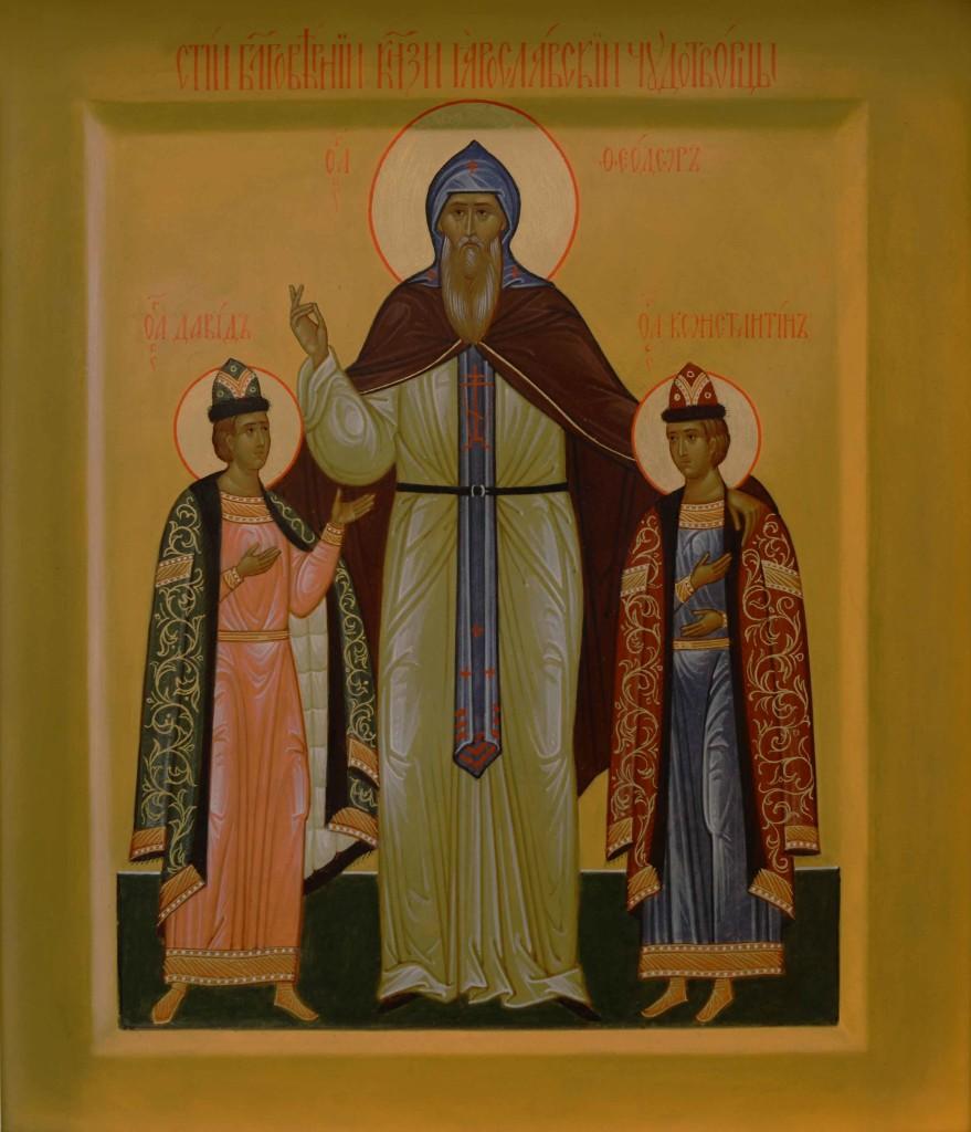 Благоверные князья Феодор Смоленский и чада его Давид и Константин, Ярославские чудотворцы