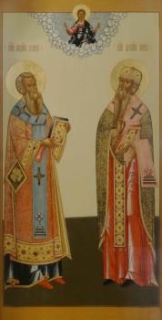 Святители Афанасий  и Кирил, патриархи Александрийские